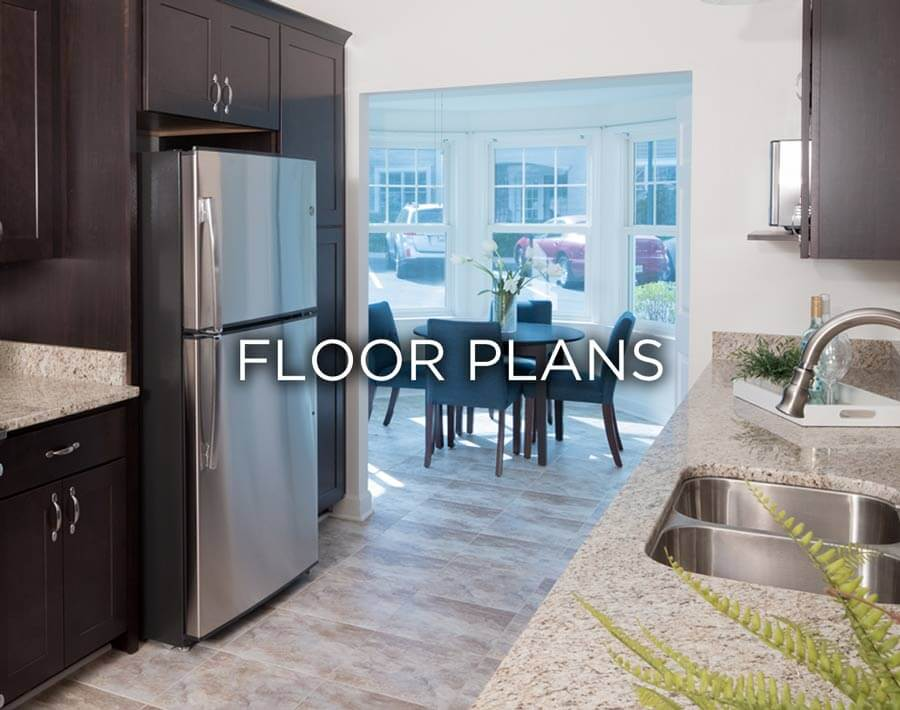 Photo of a kitchen that states floor plans.
