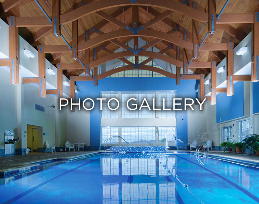 An image of a pool that states photo gallery.
