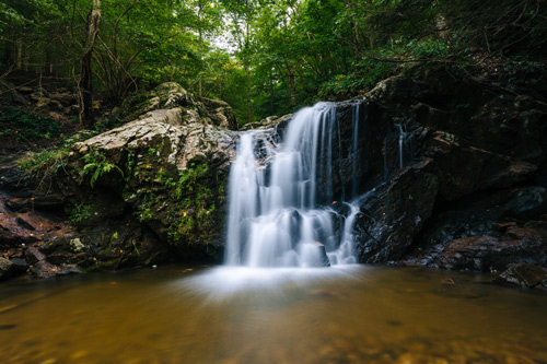 Waterfall at Patapsco Valley State Park near a Catonsville retirement community.