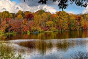 View of the lake at Centennial Park near our Ellicott City retirement community.